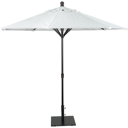 9' Aluminum Market Umbrella Easy Up Bronze (Bazooka)