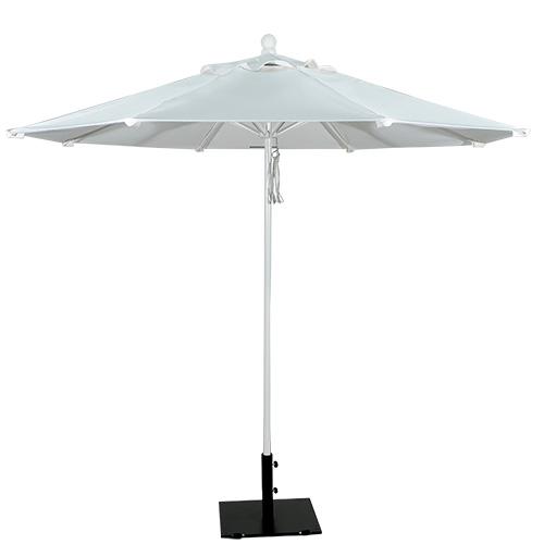 9' Aluminum Market Umbrella White Frame