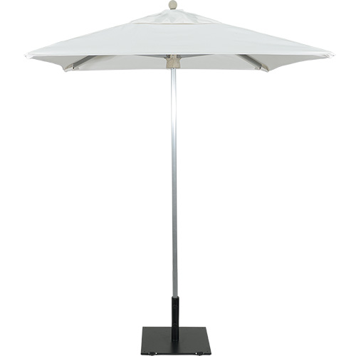 6' Square Aluminum Market Umbrella Brushed Frame