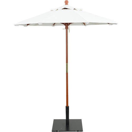 6' Wooden Market Umbrella